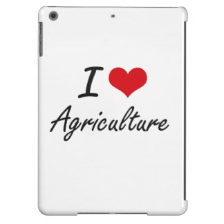 I Love Agriculture Artistic Design iPad Air Covers