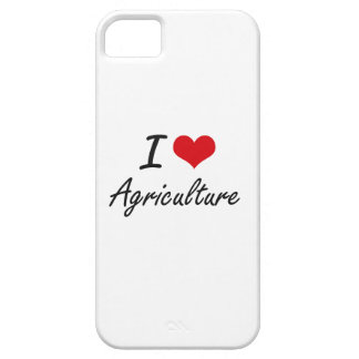 I Love Agriculture Artistic Design iPhone 5 Cover