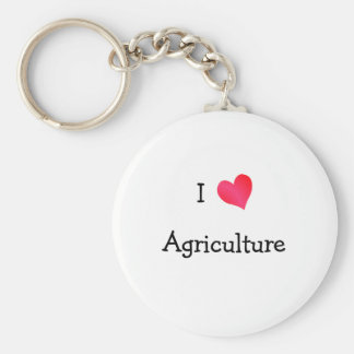 I Love Agriculture Key Ring