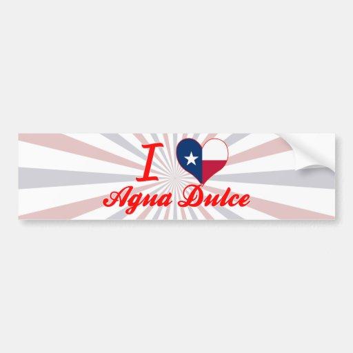 I Love Agua Dulce, Texas Bumper Stickers