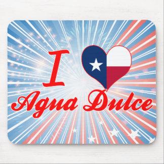 I Love Agua Dulce Texas Mousepads
