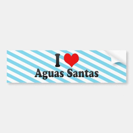 I Love Aguas Santas, Portugal Bumper Sticker