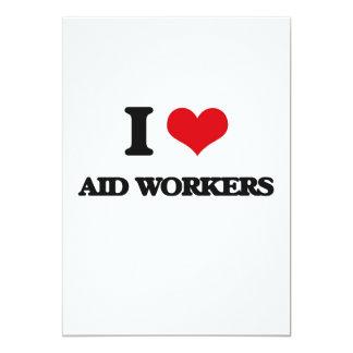 "I love Aid Workers 5"" X 7"" Invitation Card"