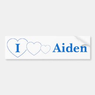I Love Aiden (BpS) Bumper Sticker