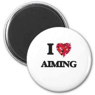 I Love Aiming 6 Cm Round Magnet