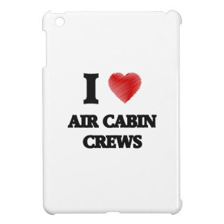 I love Air Cabin Crews (Heart made from words) Cover For The iPad Mini