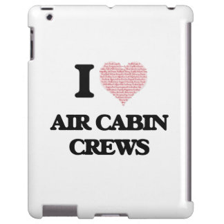 I love Air Cabin Crews (Heart made from words) iPad Case