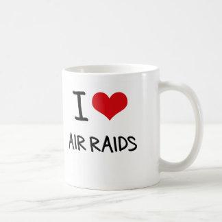 I Love Air Raids Coffee Mugs