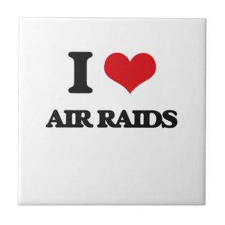 I Love Air Raids Ceramic Tile