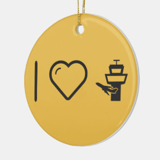 I Love Air Traffic Controls Christmas Ornament