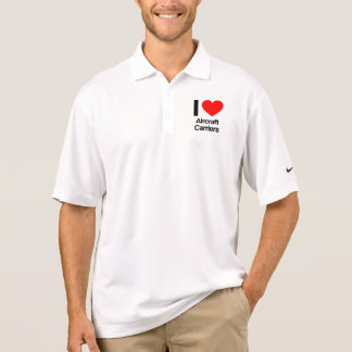i love aircraft carriers polo shirts