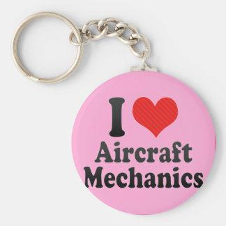 I Love Aircraft Mechanics Key Ring