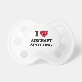 I Love Aircraft Spotting Baby Pacifier