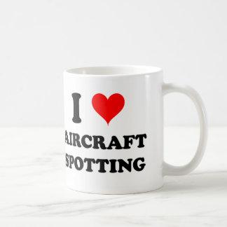 I Love Aircraft Spotting Basic White Mug