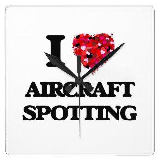 I Love Aircraft Spotting Wall Clock