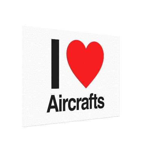 i love aircrafts canvas print