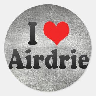I Love Airdrie, Canada. I Love Airdrie, Canada Round Sticker