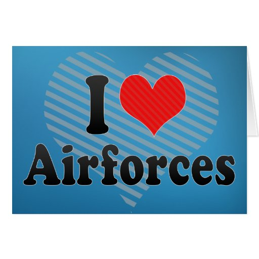 I Love Airforces Cards