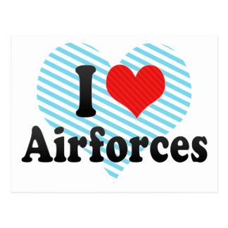 I Love Airforces Postcards