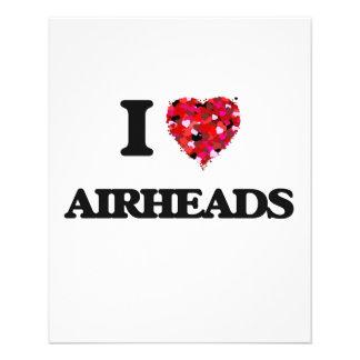 I love Airheads 11.5 Cm X 14 Cm Flyer