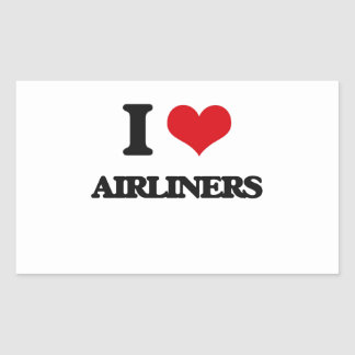 I Love Airliners Rectangular Sticker