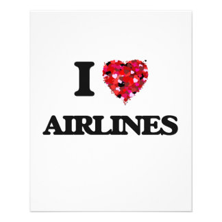 I Love Airlines 11.5 Cm X 14 Cm Flyer
