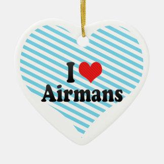 I Love Airmans Ceramic Heart Decoration