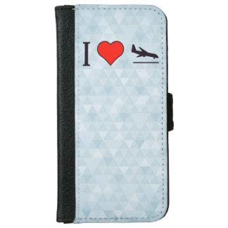 I Love Airplane Landings iPhone 6 Wallet Case