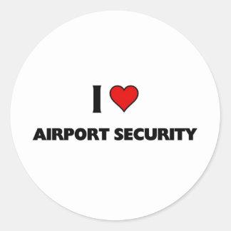 I love Airport Security Round Sticker