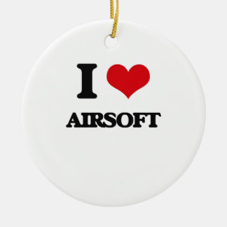 I Love Airsoft Christmas Ornament
