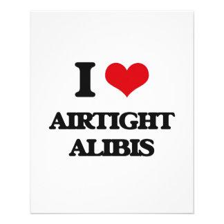 I Love Airtight Alibis 11.5 Cm X 14 Cm Flyer