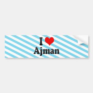 I Love Ajman, United Arab Emirates Bumper Sticker