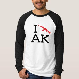 I Love AK - AK47 - Mens Raglan T-Shirt