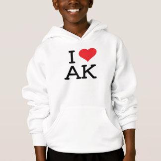 I Love AK - Heart - Hoodie