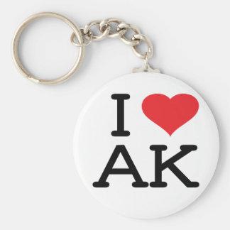I Love AK - Heart - Keychain