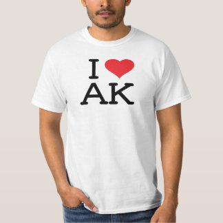 I Love AK - Heart - Mens Value Shirt
