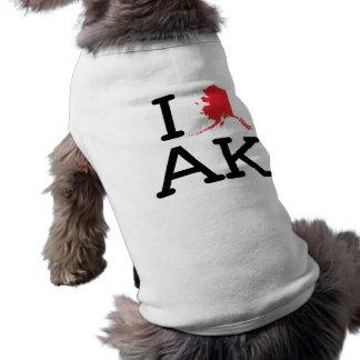 I Love AK - State - Dog Shirt