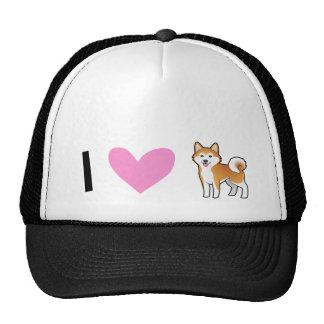 I Love Akita Inus / Shiba Inus Cap