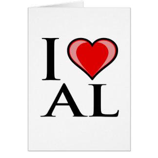 I Love AL - Alabama Greeting Card