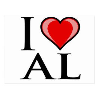 I Love AL - Alabama Postcard