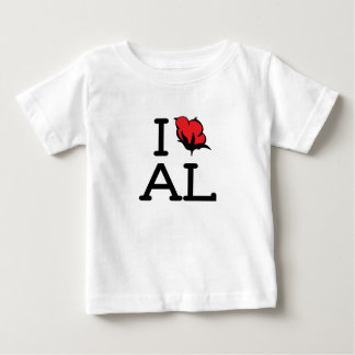 I Love AL - Cotton (Baby T) Baby T-Shirt