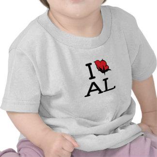 I Love AL - Cotton (Baby T) T Shirt