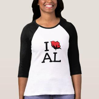 I Love AL - Cotton (Ladies 3/4 Sleeve) Tee Shirt