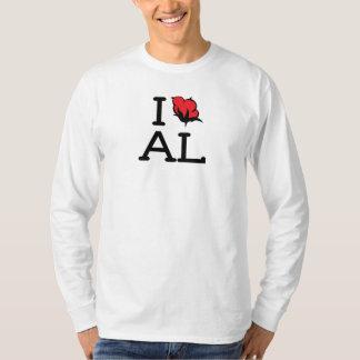 I Love AL - Cotton (Mens Long Sleeve Shirt) T-shirts