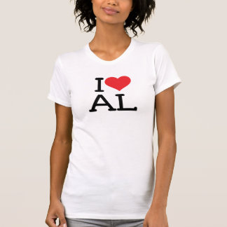 I Love AL- Ladies Destroyed Style T Shirts