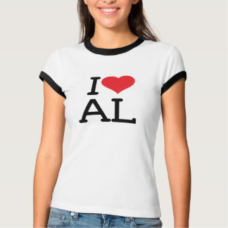 I Love AL - Ladies Ringer Tee Shirts