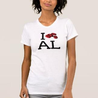I Love AL - Pecans - Ladies Petite Style T Shirt