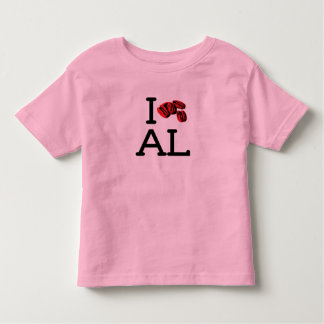 I Love AL - Pecans - Toddler Ringer T-shirts