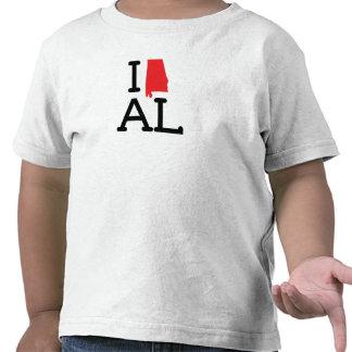 I Love AL - State - Toddler Tshirts