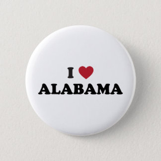 I Love Alabama 6 Cm Round Badge